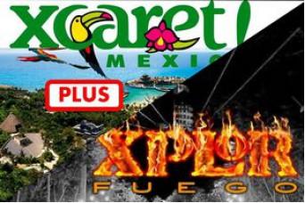 Combo Tour Xcaret Plus + Tour Xplor Fire