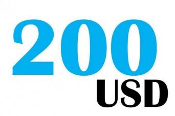 200 USD