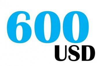 600 USD
