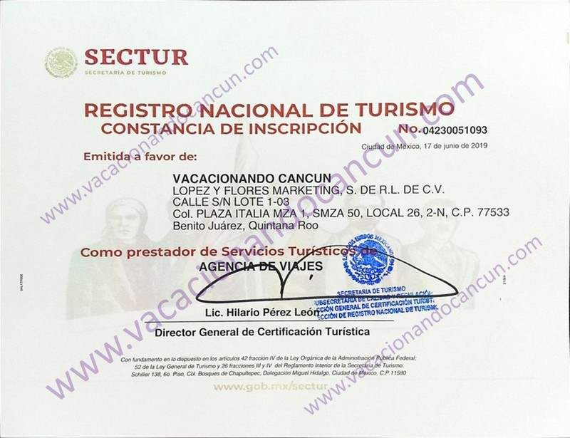 National Turism Office  Sectur